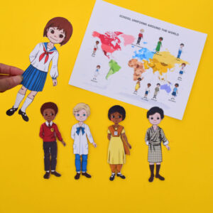 school uniforms around the world printable paper doll craft-0562