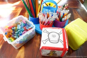 supplies for preschool games